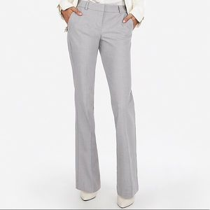 Express Grey Editor Flared Trousers, 6